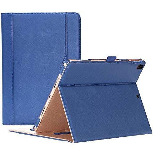 ProCase Coque iPad Air 3(10.5 -2019 A2123 A2152 A2153 A2154), iPad Pro 2(10.5 -2017 A1701 A1709), Étui Cuir PU Housse Case de Protection avec Multiples Angles, Sommeil Réveil Automatique-Marine