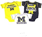 NCAA Licensed Michigan Wolverines 3Pc. Bodysuit Creeper Crawler Set (18 Months)