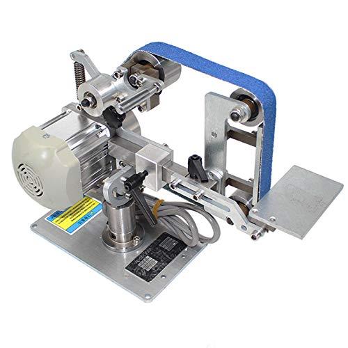 isunking 220V Bandschleifmaschine mit Bürstenlosem Motor, 762x25MM Bandschleifer Polierer Schärfer Polierschleifmaschine Festwinkel Offen V Klemme (762x25mm)