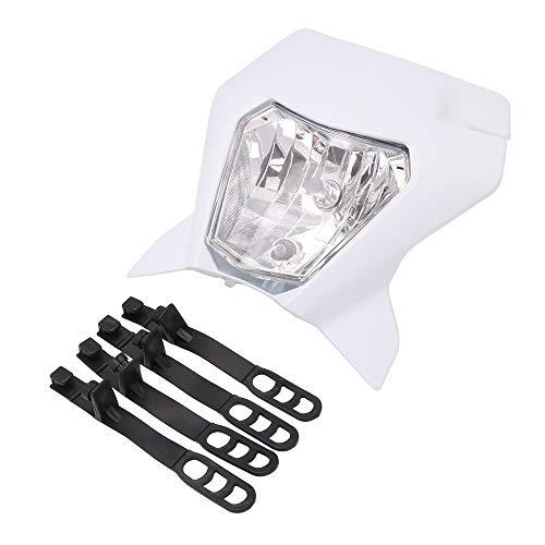 AnXin, faro bianco per moto da cross, luce a LED da strada, per 12 V, 35 W, Enduro Supermoto