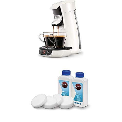 Philips Senseo Viva Cafe HD6563/00 Kaffeepadmaschine (Crema plus, Kaffee-Stärkeeinstellung) weiß, mit Flüssigentkalker
