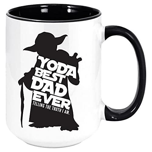 DKISEE El mejor padre de Yoda nunca diciendo la verdad que soy. taza de café linda es una gran idea para papá que fan de Star Wars