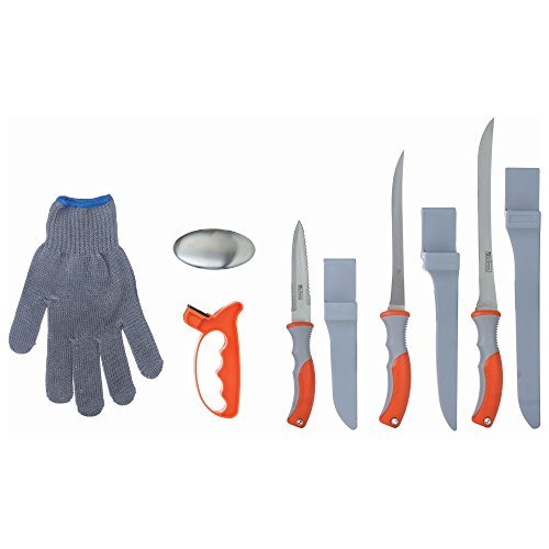Wild Fish 6 Piece Fish Fillet Knife Set, Multipurpose Set Ideal for Cleaning Fish and Many Other Kitchen Tasks