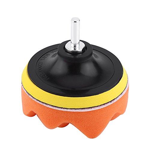 Changor Almohadilla de Pulido Reutilizable, fácil de reemplazar y ensamblar de Acero Inoxidable, Fabricada para pulir y encerar automóviles.