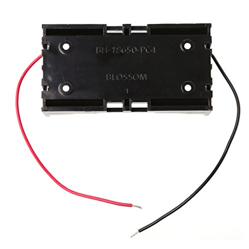NOWON 3.7V 2X 18650 Caja de Almacenamiento de Caja de Soporte de baterías paralelas Contenedor con Cable