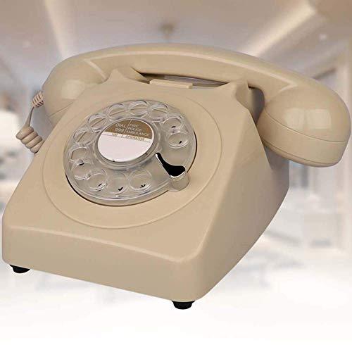 LXYZ Diseñador de marcación giratoria Teléfono Retro/Teléfono de marcación giratoria/Teléfono de Estilo Retro/Teléfono Vintage/Teléfono de Escritorio clásico con Marcador Giratorio Teléfono para l