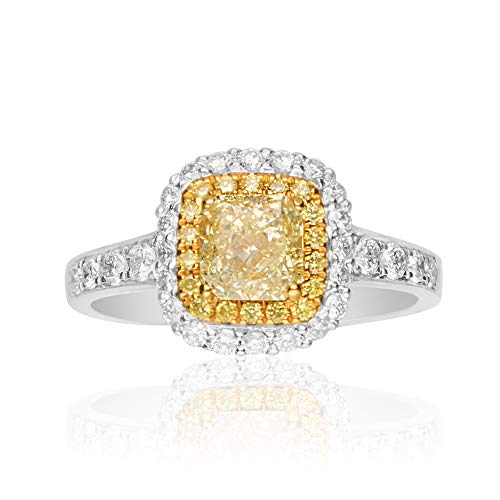 Gin & Grace 18 quilates de oro amarillo del diamante natural (SI1) proponer Promise Ring (tamaño 7) para la Mujer