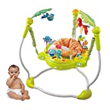 Bebé Andadores Saltador y Centro de Actividades Jump Redondo alrededor, El Asiento Gira 360 °, Silla para Bebé con Cojines y Juguetes
