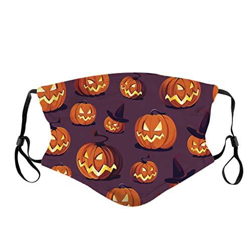 DOLLAYOU Halloween Мask Speichelschutzmittel staubdicht waschbar atmungsaktiv wiederverwendbar Bedruckt Kinder Jungen Mädchen(E)