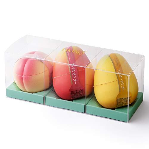 新宿高野 果実ピュアゼリー 3入EC ( アップルマンゴー / イエローマンゴー / 白桃 各1個 ) フルーツゼリー お祝い ギフト 贈答品