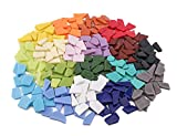 Tile for Mosaic Craft,E-Home Shop 568g (20oz) Assorted Stained Color Art and Craft Tiles for Mosaic Art,...
