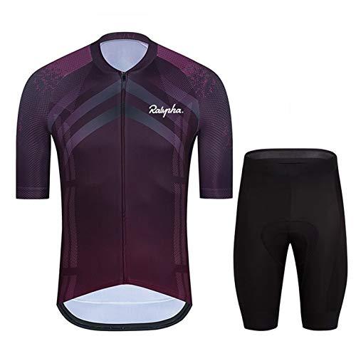 Hombres transpirable Seco rápido Cómodo manga corta Jersey y pantalones cortos Ciclismo Ropa de ciclismo Ciclismo Ropa de ropa especializada Ropa de bicicleta ( Color : Cycling suit 4 , Size : XXL )