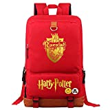 Mochila portátil Ravenclaw College, Bolso de la Escuela de Estudiantes de Moda Unisex Harry Potter Leisure Travel Rucksack Medio Rojo