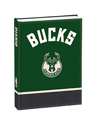 DIARIO SCUOLA NBA Buck Milwaukee Bucks 2020/21 + OMAGGIO Portachiave fischietto + PENNA GLITTERATA