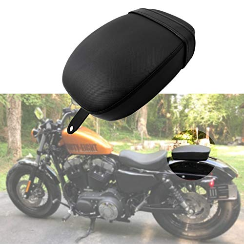 YHMTIVTU Passenger Seat Rear Pillion Pad with Belt Fit for Harley Forty Eight 48 XL1200X Seventy Two 72 XL1200V 2010-2015