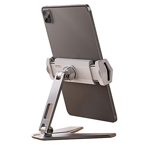 Soporte De Escritorio Plegable De Doble Eje, Soporte De Teléfono De Aleación De Aluminio Giratorio De 360 grados Resistente Duradero Y No Suelto, Móviles Y Tabletas Soporte Universal Para Teléfono