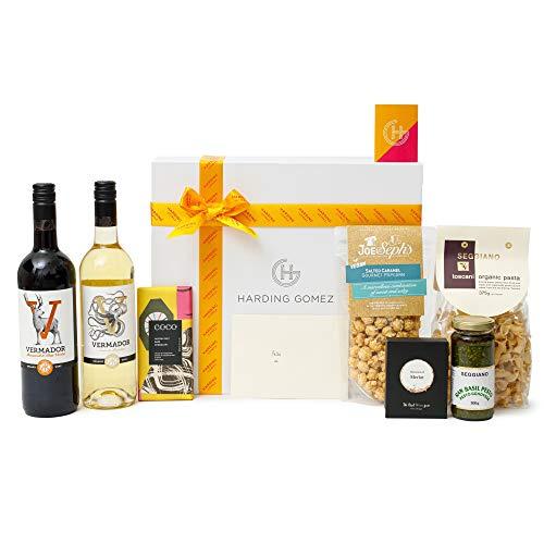 'Share Today, Vegan Tomorrow' Luxury Gourmet Vegan Gift Hamper   Tuscan Pasta, Wine & Chocolate   Ultimate Vegan Gift Box Sweet & Savoury Hamper