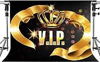 写真撮影のためのHDクラウンVIP背景ゴールデンシルククラウン高級VIP背景ハリウッドスタジオ写真写真小道具10x7ftLSMT518