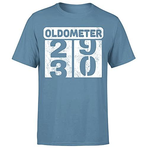 Milestone Birthday Oldometer odómetro torneando 30 años regalo para hombre camiseta regalo para él