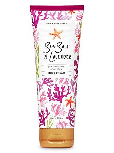Bath and Body Works Sea Salt and Lavender 24hr Ultra Shea Body Cream 8 Ounce