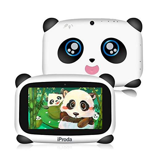 Tablet per bambini, iProda Kids Tablet da 7 pollici HD, Android 9.0, 4000 mAh, Panda Toddler Tablet con 2 GB di RAM e 16 GB di ROM, giochi educativi, sicurezza bambini, ottimo regalo di Natale