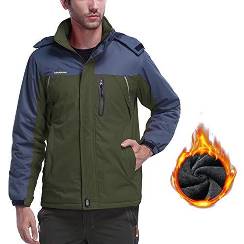 Waart lichtgewicht waterdichte jas, ademend outdoorjack voor heren, winddichte jas, voor reizigers, actieve mantel met doorlopende ritssluiting en capuchon