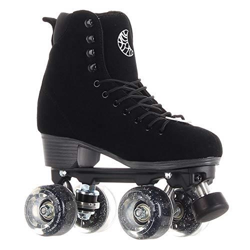 Skates Luna Quad Roller Figur Rollschuhe (Shadow schwarz, EU40/ UK6.5 / US 9/25.8cm)