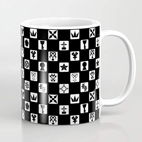 ZIQIZIYU Kingdom Hearts Grid 325 ml Taza De Café