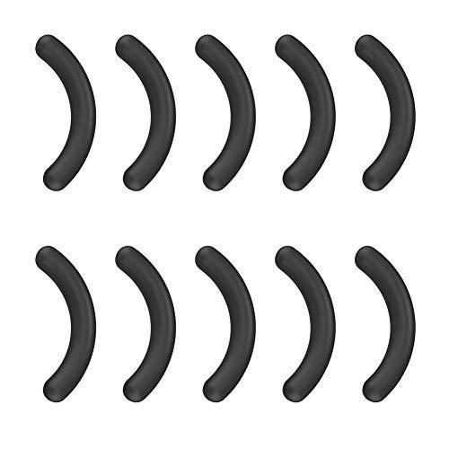 Lot de 10 tampons de recourbe-cils en silicone lavables pour la maison, le salon, Pas de zéro, Noir , Taille unique