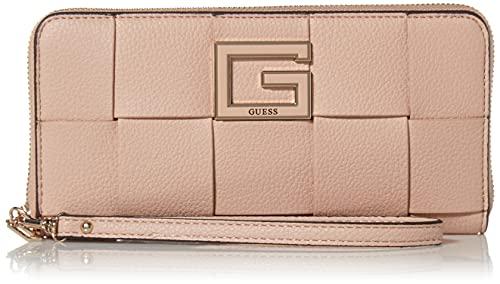Guess Damen Large Zip Around Wallet Liberty City Geldbörse mit Reißverschluss, groß, Almond, One Size