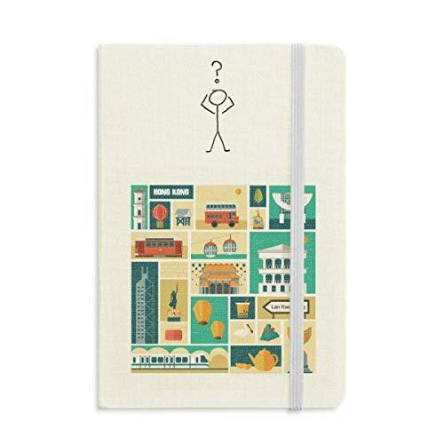 Caderno de interrogação da cultura local de Hong Kong, diário clássico A5