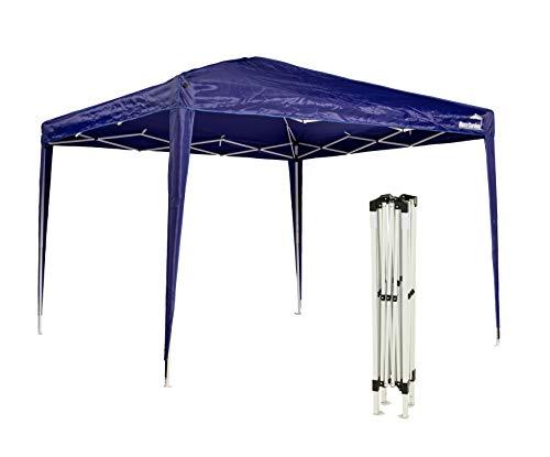 MaxxGarden - Gazebo pieghevole, 3 x 3 m, impermeabile, con custodia, protezione UV 50+, colore: Blu
