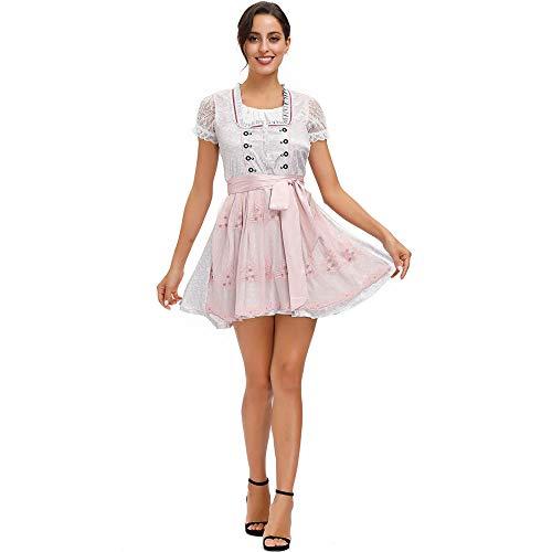 Fontoys-pants Vestidos De Halloween Disfraces De Halloween Sexis para Mujer M-XL Disfraz De Cerveza De Carnaval Bordado Cuello Cuadrado Disfraz De Festival De Cerveza-Imagen Color_M