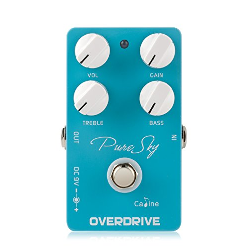 Caline Pedal CP-12 Pure Sky Overdrive Effect-Guitar Effects Pedal, blau, Size