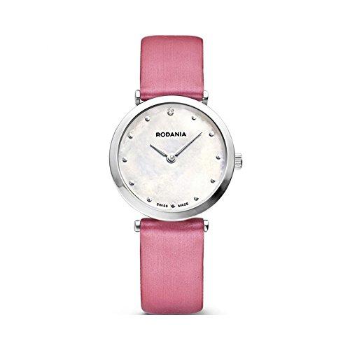 Rodania 25057-22 - Reloj para Mujeres, Correa de Cuero Color Rosa