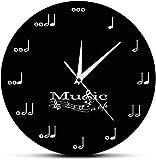 Reloj De Pared Reloj De Pared Sala De Estar Música Es Vida Reloj De Pared Inspirador Notas Musicales Reloj Musical Clave De Sol Stave Estudio De Música Reloj De Pared Colgante Regalo De Músico Adecuad