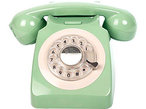 Madelcar Telephone Retro Vintage 70s Vert