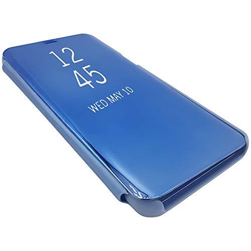 e-phoria Funda Mirror Flip Compatible con Samsung Galaxy S8 Plus | Azul