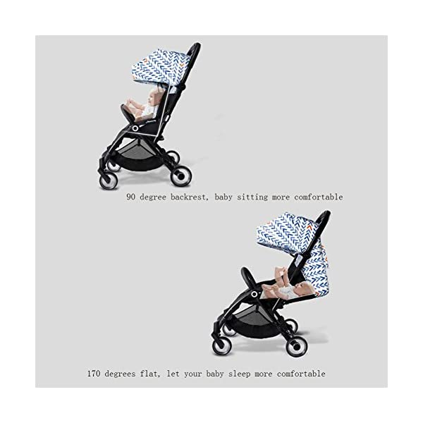 JXCC Baby Stroller, Convertible Baby Carriage, Infant Pram Stroller with Cup Holder and 5-Point Safety System -Safe And Stylish Blue JXCC 1. Can be used out of the box, no need to install, small, easy to carry, boarding, such as the size of a backpack. 2. Backboard design, with three large pieces of hard board support, moderate hardness. 3. Can sit, can move, small bed, suitable for 0-3 years old baby. 6