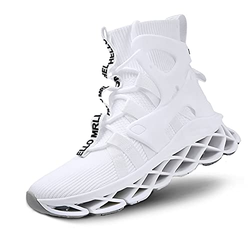 Hello MrLin Running Shoes Womens Comfortable Fashion Non Slip Sneakers Walking Gym Tennis Sport Athletic Shoes Hip Hop White