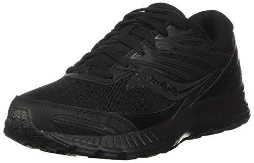 Saucony Women's Cohesion 13 Running Shoe, Black/Black, 8.5