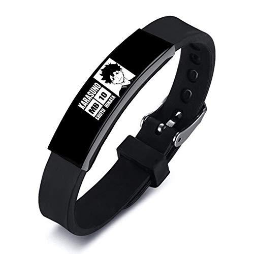 Yhrhredfjh Leotiee Anime Haikyuuu!! Edelstahl Silikon Armband Cosplay Requisiten Gummi Soft Schmuck Armband Armreif verstellbar mit Lomo (10)