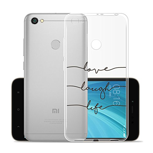 IJIA Funda para Xiaomi Redmi Y1 / Redmi Note 5A Prime Transparente Nota Musical TPU Silicona Suave Cover Tapa Caso Parachoques Carcasa Cubierta para Xiaomi Redmi Y1 / Redmi Note 5A Prime (5.5