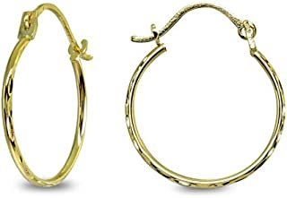 20G Small Hoop Earrings 18K IPG 316L Surgical Stainless Steel 8mm//10mm Unisex Thinner Hoop Nose Ring Snug Rook Lobes Hypoallergenic Sleeper Earrings for Women Men Girls Boys 1.5mm Thickness