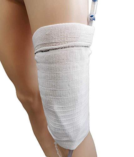 Funda para soporte de bolsa de pierna para catéter - Portador de bolsa de orina Cuidador Cómodo protector de mangas para bolsa de pierna Foley(M)