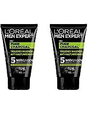 L'Oréal Men Expert, Pure Charcoal wasgel, tegen onzuivere mannenhuid (puistjes, mee-eters, vettige en olieachtige huid) (1 x 100 ml)