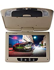 9 inch Auto Flip Down Monitor HDMI HD TFT LCD Dak Mount Monitor Ultra Dunne Overhead Video Speler voor Auto MP3 MP5 LED met Afstandsbediening, Beige