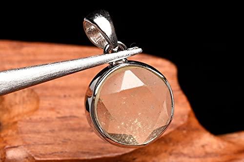 【 福縁閣 】【1点物】Silver925 リビアングラス 12mm 六芒星 ペンダントトップ_P6382 天然石 パワーストーン ビーズ