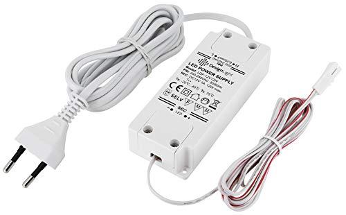 12V MINI-AMP - LED Trafo Netzteil 12W - mit EURO-Stecker und MINI-AMP Buchse - weiß