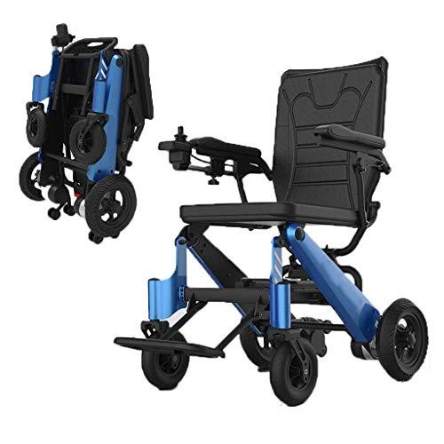 N/Z Home Equipment Faltbarer kompakter Rollstuhl Leichter motorisierter Elektroroller, sicher und stabil für Behinderte und ältere Menschen
